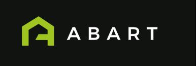 Weißes Abart-Digital- Logo auf schwarzem Hintergrund